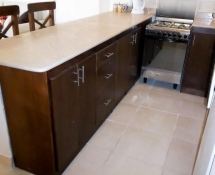 Dark colour Kitchen Colour with beige marble in Makadi